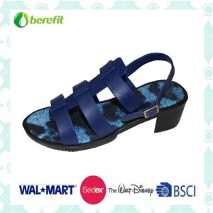 Ladies′ Fashion PVC Sandals with Simply Design pictures & photos