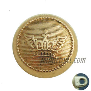 Gold Alloy Metal Shank Sew Button for Coat pictures & photos