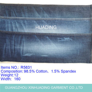 Polyester Spandex Cotton Denim Fabric for Jeans (R5631) pictures & photos