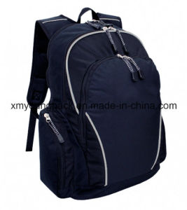 Promotional Navy Blue 600d Polyester Sports Travel Backpack pictures & photos