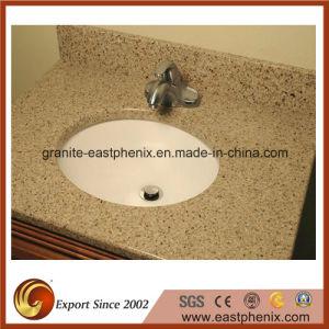 Competitive Price White Quartz Stone Vanity Top pictures & photos