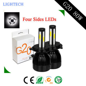 Hot Sale New Design G20 Have Flip Chip LED Light with 80W Auto Parts LED Headlight and Car LED Light pictures & photos