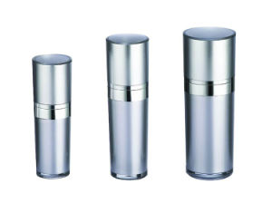 Round Plastic Lotion Bottle for Cosmetic Packaging pictures & photos
