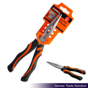 Long Nose Plier with Rubber Grip (T03026-F)