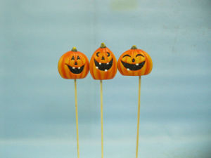 Halloween Pumpkin Ceramic Arts and Crafts (LOE2375-5.5p) pictures & photos