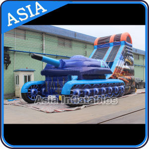 Inflatable Tank Slide/Inflatable Tank Double Slide for Sale pictures & photos