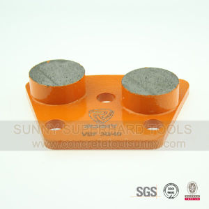 Two Bars Concrete Floor Trapezoid Diamond Grinding Shoes pictures & photos