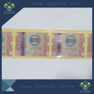 Hot Stamping Hologram Paper Label pictures & photos