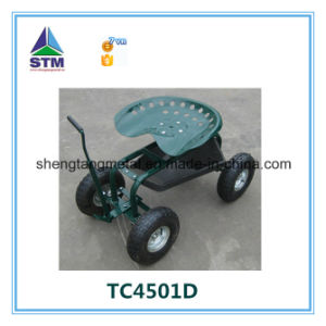 Chinese Garden Seat Cart with Four Air Rubber Wheel