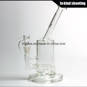 Hfy Glass Smoking Pipes Sovereignty 60mm Bent Neck Stemline Shisha Thick Smoking in Stock Hookah Hand Blown Heady Tobacco Bubbler Wholesale pictures & photos