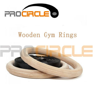 Wooden Gymnastic Rings with Straps for Sale Crossfit Rings (PC-GR1007) pictures & photos