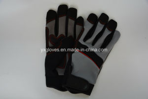Mechanic Glove-Weight Lifting Glove-Safety Glove-Synthetic Leather Glove-Labor Glove pictures & photos