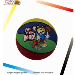 Cartoon Rubber Basketball for Promotion (SG-0383) pictures & photos