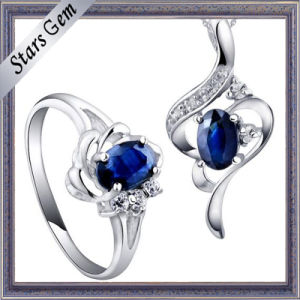 Beautiful Cubic Zirconia Sapphire Setting High Quality Fashion Jewelry Set pictures & photos