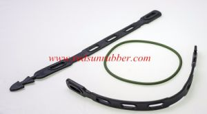 OEM Custom Flexible Adjustable Silicone Rubber Tie-Down Strap pictures & photos