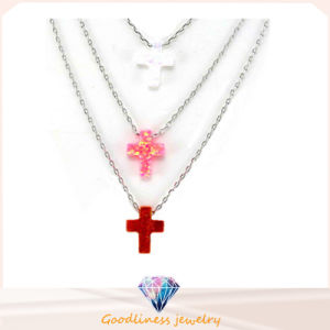 Cross Opal Pendant Fit Opal Necklaces Made of 925 Sterling Silver Colourful Opal Jewelry (N6509) pictures & photos