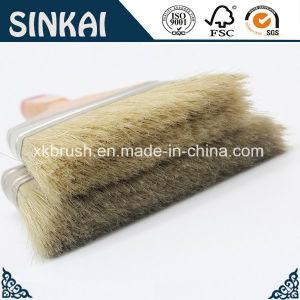Plastic Bristle Brush with Hardwood Handle pictures & photos