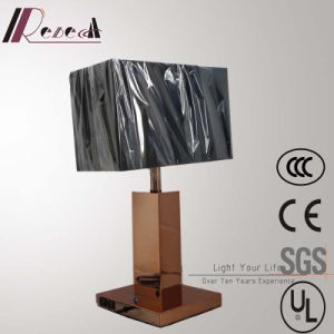 European Hotel Copper Bedside Table Lamp with 2PCS USB pictures & photos