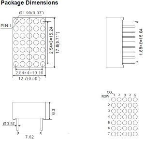 0.7 Inch 5X7 Dual Color LED DOT Matrix pictures & photos