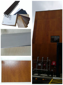 PVDF Wooden Grain PVC Laminating Film for Aluminium Board pictures & photos