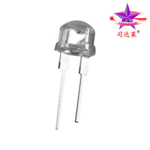0.5W High Power LED Light/Lamp 8mm Strawhat (SLH08SYCW2B1W90)