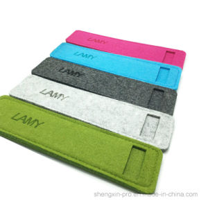 Easy Carry Felt Pen Pouch with Logo Embossed for Promotion
