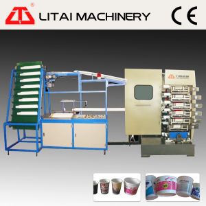 Plastic Cup Six Colors Offset Printing Machine pictures & photos