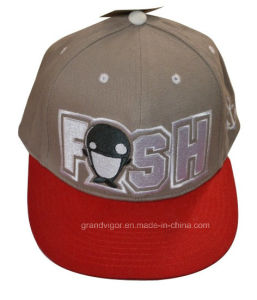 Cotton Twill Brushed Snapback Cap with Custom Embroidery Logo (NCAA) pictures & photos