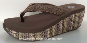 Ladies Comfort High Heel Shoes Slippers (516-9842) pictures & photos