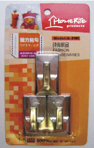 Plastic Adhesvie Hook (HK015C) Chrome for Household Products