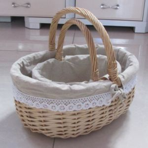 (BC-WB1019) High Quality Handmade Natural Willow Basket/Gift Basket pictures & photos