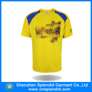 China Supplier Round Neck Short Sleeve Polyester Men′s T-Shirt