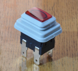 SGS LED IP67 Waterproof Square Push Button Switch with 4 Pins