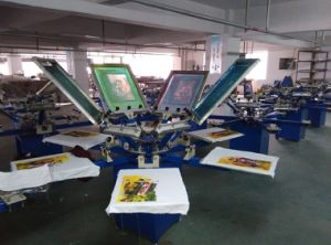 Spm850 8 Color 8 Station Manual T Shirt /Textile Screen Printer/Printing Machine pictures & photos