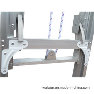 En131 Extension Aluminum Firefighting Ladder with Non Slip Rungs Supplier pictures & photos