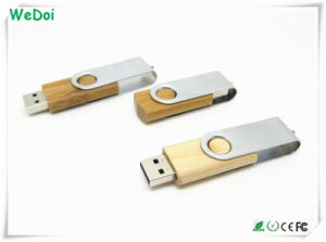 Swivel Wooden USB Stick with Full Capacity (WY-W33) pictures & photos