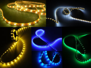 Factory Price 3528 Flexible LED Strips 120LED/M 12V SMD 3258 High Lumen LED Strip Lights pictures & photos