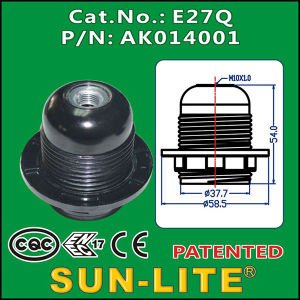 E27 Phenolic Lampholder, Push-in Terminals (Outer ring)