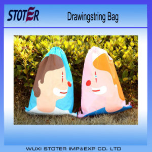 Waterproof Custom Cheap Printed Polyester Nylon Drawstring Bag pictures & photos
