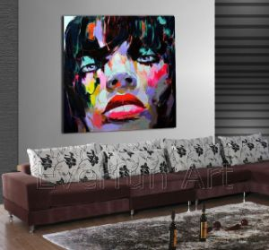 100% Hand Painted Canvas Pop Art Painting (KVP-168) pictures & photos