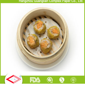 152mm Round Non-Stick Silicone Coated Steaming Paper for Food Cooking pictures & photos