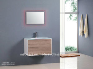 MDF Bathroom Cabinet with Super White Glass Basin