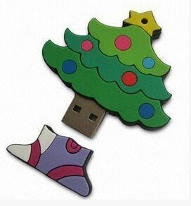 PVC Christmas Tree USB Flash Drive (OM-P146) pictures & photos
