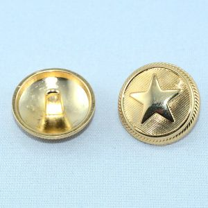Plating Gold Embossed Star Logo Alloy Shank Button pictures & photos