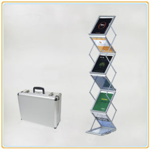 Foldable Magazine Display Stands Acrylic Leaflet Holder (A4) pictures & photos