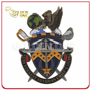Customized Military Symbol Soft Enamel Cut out Metal Challenge Coin pictures & photos