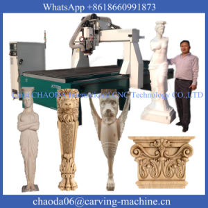 Wood Rotary 4 Axis CNC Router Engraver Machine Price (JCT1530L) pictures & photos