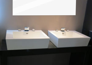 ISO9001 Acrylic Solid Surface Bathroom Wash Basin pictures & photos