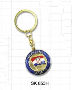 Croatia Flag Zinc Alloy Key Chain for Souvenir (SK853H) pictures & photos