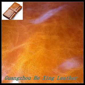 High Quality PU Leather Nubuck Leather and for Shoes Bag pictures & photos